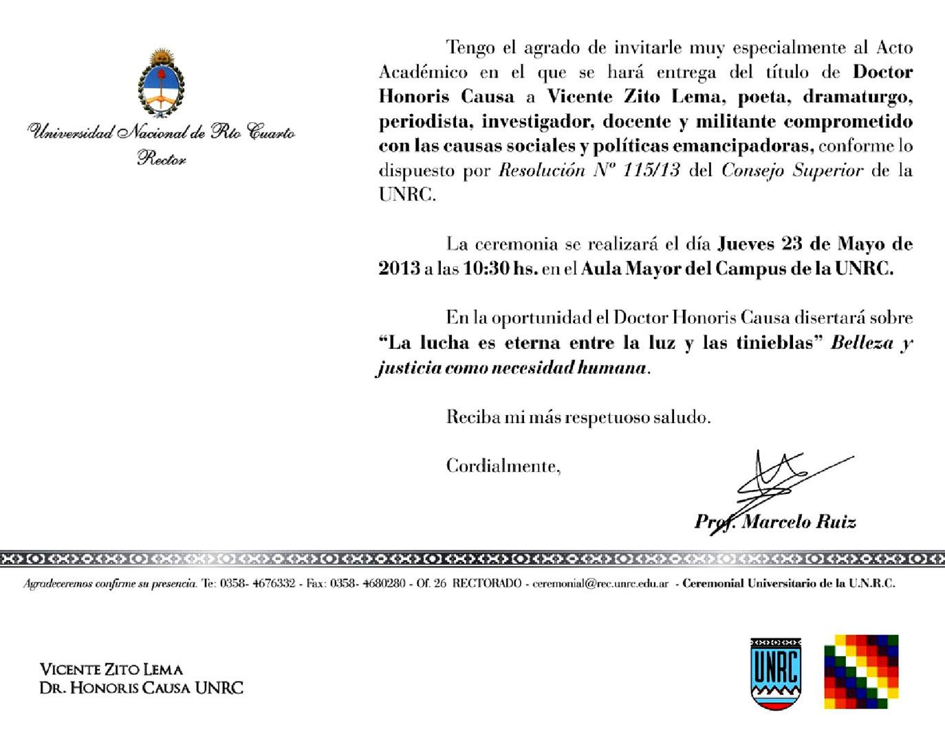 Invitacion Zito Lema